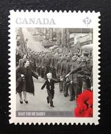 CANADA  2014, 2795i   WAIT FOR ME DADDY, PERMANENT RATE,  DIE CUT  MNH - Carnets