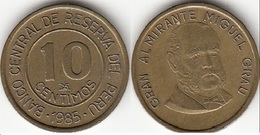 Perù 10 Centimos 1985 KM#293 - Used - Perú