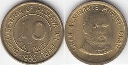 Perù 10 Centimos 1986 KM#293 - Used - Perú