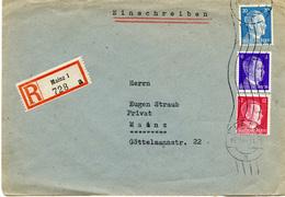 (Lo2946) Einschr. Brief DR St. Mainz - Deutschland