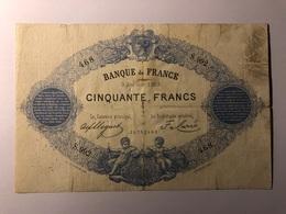 Billet 50 Francs Indices Noirs Type 1868 - ...-1889 Tijdens De XIXde In Omloop