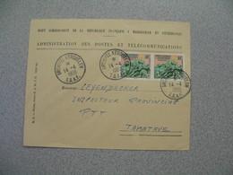 TAAF Lettre Administration Des Postes Et Télécommunications Archipel Kerguelen  Pour Tamatave N° 11   Du 14/4/1959 - Terres Australes Et Antarctiques Françaises (TAAF)