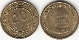 Perù 20 Centimos 1987 KM#294 - Used - Perú
