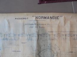 Plan Du Paquebot Le Normandie - Planches & Plans Techniques