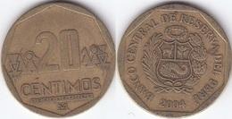 Perù 20 Centimos 2004 Nuevo Sol KM#306.4 - Used - Perú