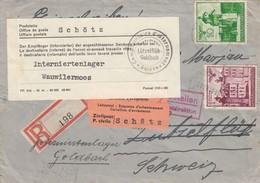 GG Schweiz Interniertenpost Ostrowiec Nach Wauwilermoos/Schötz, Portogerecht - Occupation 1938-45
