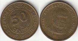 Perù 50 Centimos 1986 KM#295 - Used - Perú