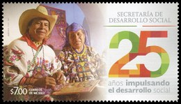 2017 MÉXICO 25 Aniversario De La Secretaria De Desarrollo Social MNH 25 YEARS DRIVING SOCIAL DEVELOPMENT, PEOPLE - México