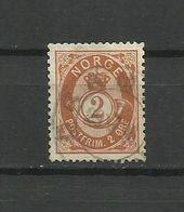 Norway 1890 - Mi.51b , Used - Norvège