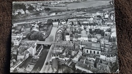 CPSM SARREBOURG MOSELLE VUE GENERALE AERIENNE ET LA SARRE ED CIM 1953 OU 1958 - Sarrebourg