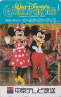 Télécarte Japon / 110-011 - DISNEY ON ICE - MICKEY & MINNIE ** TOKYO TV ** - JAPAN Phonecard - Disney