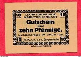 Allemagne 1 Notgeld  10 Pfenning Schorgast Lot  Dans L' état Lot N °2947 - [ 3] 1918-1933 : République De Weimar