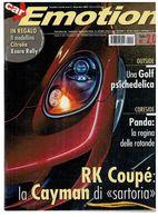 CAR EMOTION AUDI TT VS PORSCHE CAYMAN BERTONE C4 WRC BMW HONDA SKODA - Motori