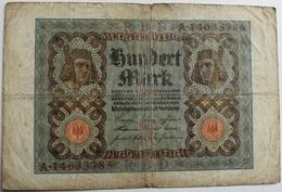 Billete Alemania. 100 M. Berlín, 1920 - [ 3] 1918-1933 : República De Weimar