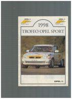 BROCHURE UFFICIALE TROFEO OPEL SPORT 1998 - Motori