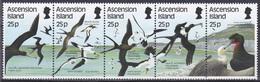 Ascension 1987 Tiere Fauna Animals Vögel Birds Oiseaux Aves Uccelli Seevögel Seabirds Tölpel, Mi. 443-7 ** - Ascension