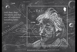 Jersey 2016 - Einstein's Theory Of General Relativity Souvenir Sheet Mnh - Jersey