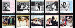 Jersey 2016 - Her Majesty Queen Elizabeth - 90th Birthday Celebration Stamp Set Mnh - Jersey