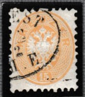 AUTRICHE 1863: Le 15 Kr. Bistre (Y&T 31), Oblitération Ellipse De Trieste - 1850-1918 Imperium
