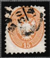 AUTRICHE 1863: Le 15 Kr. Bistre (Y&T 31), Oblitéré, Nuance Brun Clair - 1850-1918 Keizerrijk