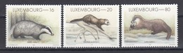 Luxembourg 1996 - Faune. Les Mustelides - 3 V., Neufs** - Luxembourg