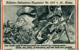 Régiment N°224 10ème Compagnie  Reserve-Infanterie  Dessin De Lehmann Dumont 4.08.1914 - Guerra 1914-18