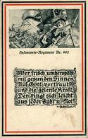 Régiment N°402 Infanterie     Dessin De Lehmann Dumont Avec Texte De Schiller - Guerra 1914-18