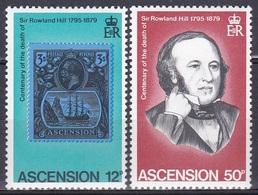 Ascension 1979 Postwesen Persönlichkeiten Rowland Hill Briefmarken Stamps Philatelie Philately, Aus Mi. 249-2 ** - Ascension