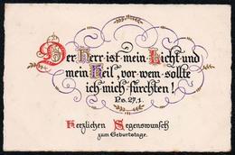 5145 - Litho Spruchkarte Verlag Wilhelm Froese Berlin Steglitz - Anniversaire