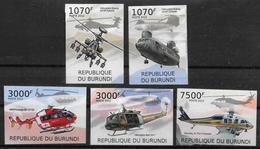BURUNDI  N° 1437/40  BF 210  * *  NON DENTELE  Helicopteres - Hélicoptères
