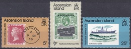 Ascension 1976 Philatelie Philately Tag Der Briefmarke Stamps Schiffe Ships Southampton Castle, Mi. 212-4 ** - Ascension