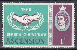 Ascension 1965 Organisationen UNO ONU Zusammenarbeit Cooperation Hand Hände Hands, Mi. 94 ** - Ascension