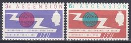 Ascension 1965 Organisationen UNO ONU ITU UIT Fernmeldeunion Kommunikation Communication Blitz Globus, Mi. 92-3 ** - Ascension
