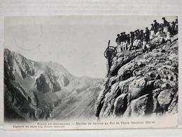 Manoeuvres Alpines. Montée De Canons Au Col De Four - France