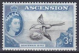 Ascension 1956 Tiere Fauna Animals Vögel Birds Oiseaux Aves Uccelli Seevögel Seabirds Tropikvogel Tropic Bird, Mi. 67 ** - Ascension