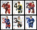 Canada (Scott No.2787a-f - Hockey LNH / NHL Hockey) (o) Série / Set - 1952-.... Règne D'Elizabeth II