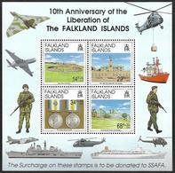 FALKLAND  1992 -   BF   N°  9 - Anniversaire De La Libération - Surcharge En Faveur Du SSAFA - Falkland