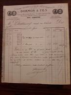 Ancienne Facture. Usine Hydraulique D'Estravaux. Dormon Et Fils. Fresne St Mames. 1886 - France