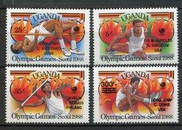 Uganda 1989. Yvert 543-46 ** MNH. - Uganda (1962-...)