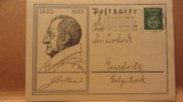 DR: GA P 213 1932 - 1932  J. W. Von Goethe, MWSt. Bautzen 18.3.32 Winterhilfe Nach Gnaschwitz - Deutschland