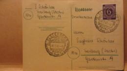 Gem.Ausg. Karte Mit 6 Pfg Knr: 916 SSt. ELSTERBERG Die Reizvolle Stadt Im Elstertale - Vielseitige Industrie V. 6.2.1947 - Gemeinschaftsausgaben