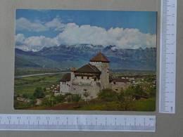 LIECHTENSTEIN - SCHLOSS VADUZ -  SWISS MOUNTAINS -   2 SCANS  - (Nº27064) - Liechtenstein