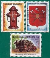 Rep. Dominicana. Dominican Republic. 1976. Scott # 771 / 72, C245. Homenaje A Los Bomberos - República Dominicana