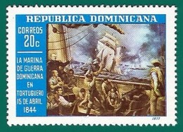 Rep. Dominicana. Dominican Republic. 1977. Scott # 786. Marina. Batalla De Tortuguero - República Dominicana