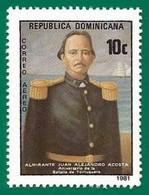 Rep. Dominicana. Dominican Republic. 1981. Scott # C332. Almirante Juan Alejandro Acosta - República Dominicana