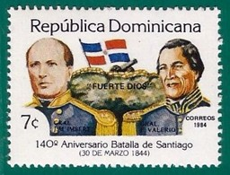 Rep. Dominicana. Dominican Republic. 1984. Scott # 902. Batalla De Santiago - República Dominicana