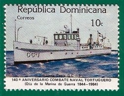 Rep. Dominicana. Dominican Republic. 1984. Scott # 903. Batalla De Tortuguero. Dia De La Marina. Guarda Costas - República Dominicana