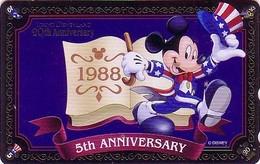 Télécarte Brillante NEUVE Japon / MF-1001663 - DISNEY DISNEYLAND - MICKEY * GRAND OPENING 1988 * - Japan MINT Phonecard - Disney