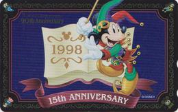 Télécarte Brillante NEUVE Japon / MF-1001665 - DISNEY DISNEYLAND - MICKEY * GRAND OPENING 1998 * - Japan MINT Phonecard - Disney