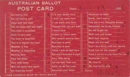 Humour Australian Ballot Post Card 1908 - Humour